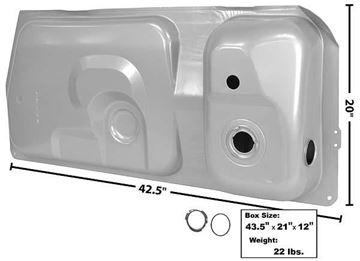 Picture of GAS TANK 81/6 15.4 GAL.1 GAUGE HOLE : T24C MUSTANG 81-86