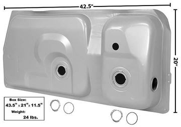 Picture of GAS TANK 83/7 15.4 GAL 2 GAUGE HOLE : T24D MUSTANG 73-87