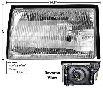 Picture of HEADLAMP ASSY LH 87-93 : 110133 MUSTANG 87-93