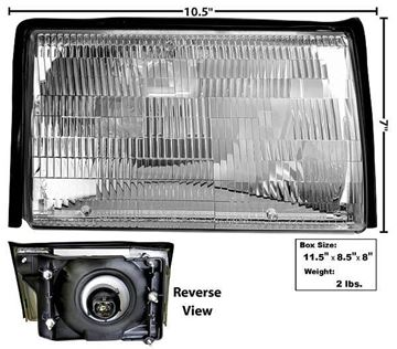 Picture of HEADLAMP ASSY RH 87-93 : 110134 MUSTANG 87-93