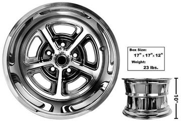Picture of MAGNUM ALLOY WHEEL 15X10 COATED : FW150C MUSTANG 65-73