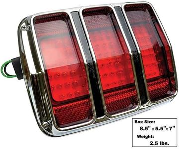 Picture of TAIL LAMP LED 1965-66 W/BEZEL : FTL6411LED MUSTANG 65-66