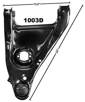 Picture of CONTROL ARM LOWER RH OE DESIGN : 1003D NOVA 68-74