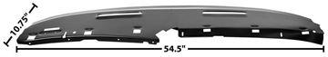Picture of DASH UPPER PANEL (STEEL) 69 CUSTOM : 1068EE NOVA 69-69