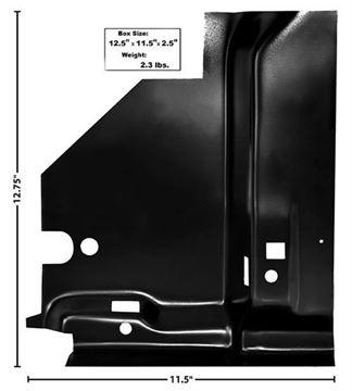 Picture of FLOOR BRACE UNDER RR SEAT LH 68-74 : 1632BB NOVA 68-74