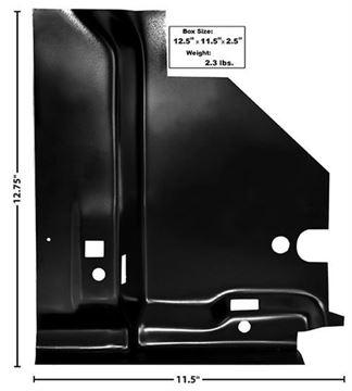 Picture of FLOOR BRACE UNDER RR SEAT RH 68-74 : 1632BA NOVA 68-74