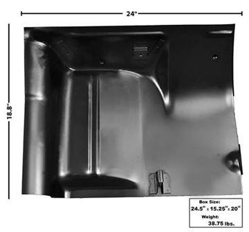Picture of FLOOR REAR SEAT PANEL LH 68-74 : 1632BD NOVA 68-74