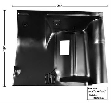 Picture of FLOOR REAR SEAT PANEL RH 68-74 : 1632BC NOVA 68-74