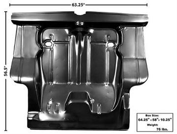Picture of TRUNK FLOOR COMPLETE 71-72 W/BRACES : 1633P NOVA 71-72