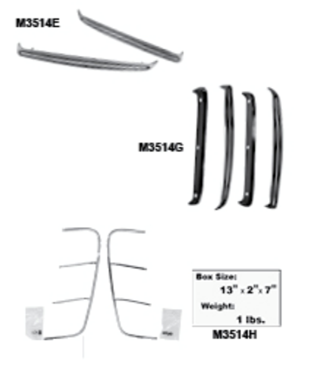 Picture for category Quarter Panel Molding : Mustang