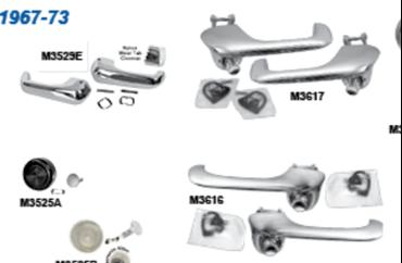 Picture for category Interior Door Handles & Cranks : Mustang