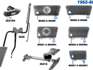 Picture for category Brake Pedal Assemblies : Mustang