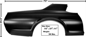 Picture of QUARTER PANEL RH 1967-68 COUGAR : 3848A COUGAR 67-68