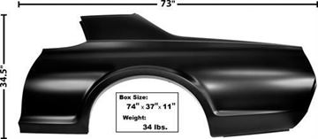 Picture of QUARTER PANEL LH 1967-68 COUGAR : 3848B COUGAR 67-68