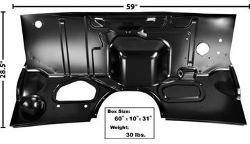 Picture of FIREWALL 56 W/HEATER HOLE : 3142 FORD PICKUP 56-56