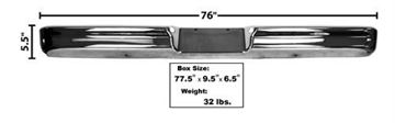 Picture of BUMPER REAR STYLESIDE CHROME 64-72 : 3015 FORD PICKUP 64-72