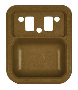 Picture of DOOR HANDLE CUP INSIDE 67-72 TAN : 3115J FORD PICKUP 67-72