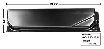 Picture of DOOR BOTTOM INNER 67-72 RH 8-1/2H : 3108A FORD PICKUP 67-72