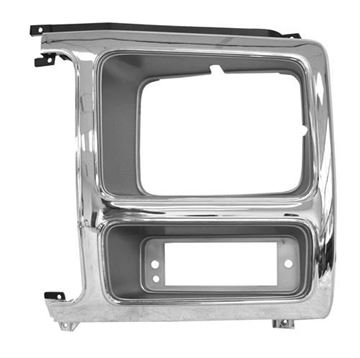 Picture of HEADLAMP DOOR LH 80-81 CHROME/GRAY : 3037B FORD PICKUP 80-81
