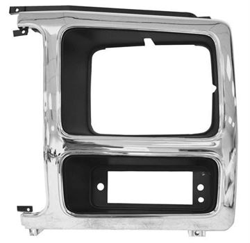 Picture of HEADLAMP DOOR LH 82-86 CHROME/BLACK : 3037D FORD PICKUP 82-86