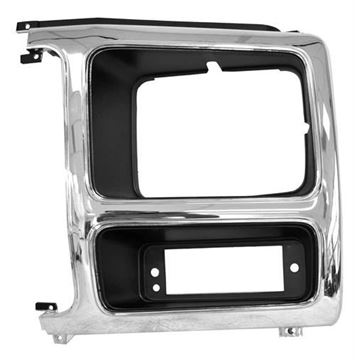 Picture of HEADLAMP DOOR LH 82-86 CHROME/GRAY : 3037F FORD PICKUP 82-86