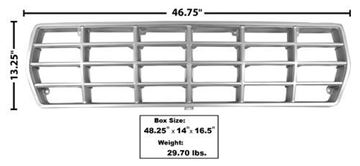 Picture of GRILLE 78-79 ARGENT : 3035 FORD PICKUP 78-79