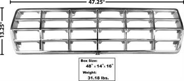 Picture of GRILLE 78-79 CHROME/ARGENT : 3034 FORD PICKUP 78-79