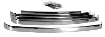 Picture of GRILLE BAR STAINLESS 48-50 5PCS : 3031 FORD PICKUP 48-50