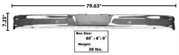 Picture of BUMPER FRONT CHROME W/O PAD HOLE : 3007A FORD PICKUP 64-77