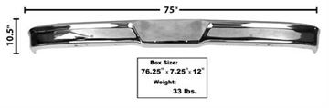 Picture of BUMPER FRONT CHROME 1957-60 : 3006A FORD PICKUP 57-60
