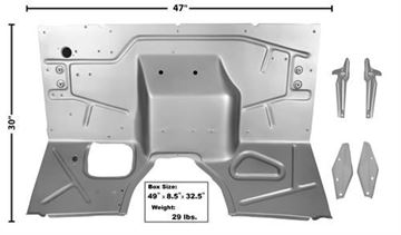 Picture of FIREWALL 48-52 W/SUPPORTING BRACKET : 3140 FORD PICKUP 48-52