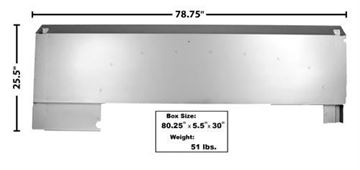 Picture of BEDSIDE PANEL RH 51-52 SHORT BED : 3250 FORD PICKUP 51-52