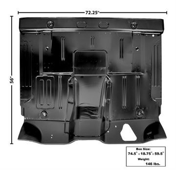 Picture of FLOOR PAN COMPLETE 61-64 : 3154 FORD PICKUP 61-64