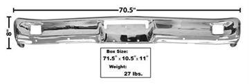 Picture of BUMPER FRONT CHROME 64-65 : 3400 FALCON 64-65