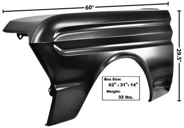 Picture of FENDER LH 1964-65 NO MOLDING HOLES : 3421A FALCON 64-65