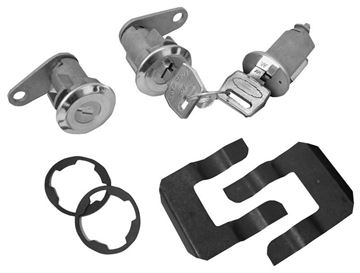 Picture of LOCK KIT IGNITION & DOOR 67/9 MUSTA : CL-1555 FALCON 66-69