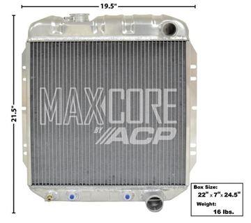 Picture of RADIATOR ALUMINUM 2-ROW V-8 : FM-ER201 FALCON 63-65