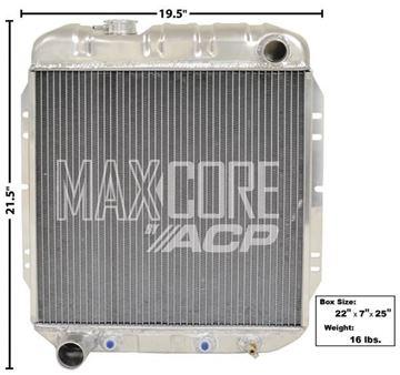 Picture of RADIATOR ALUMINUM 2-ROW (FOX 302) : FM-ER209 FALCON 64-65