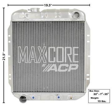 Picture of RADIATOR ALUMINUM 3-ROW (FOX 302) : FM-ER309 FALCON 63-65